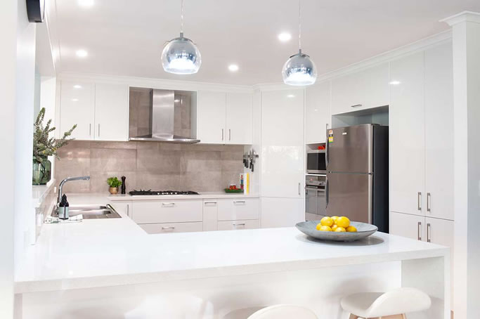 White gloss diy kitchen renovation