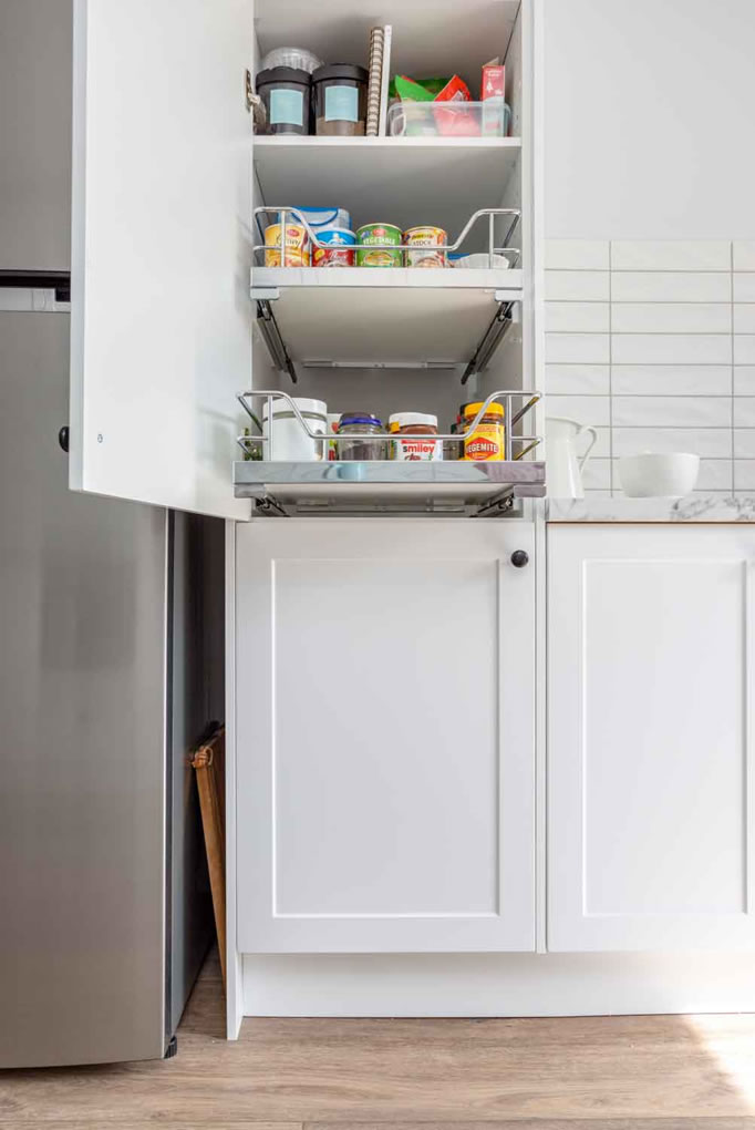 Kitchen Shack slideout pantry shelves