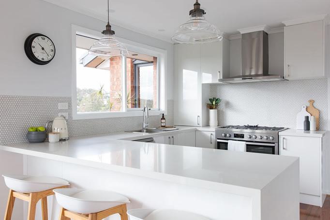 New modern white kitchen