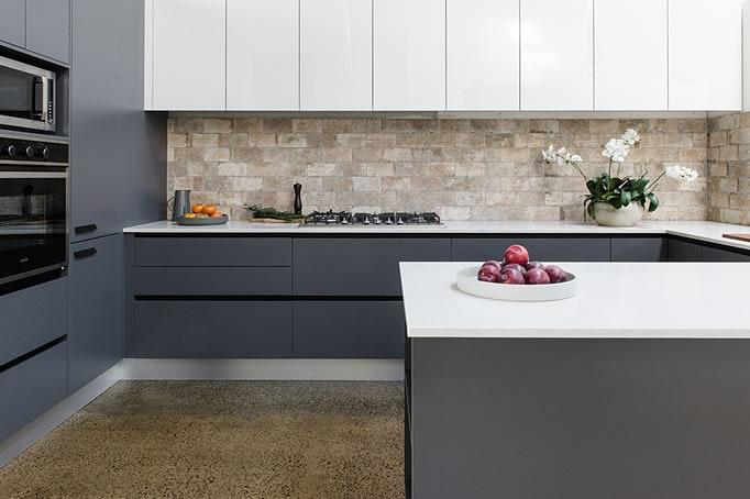 Handle free grey kitchen