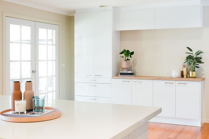 White flatpack cabinetry