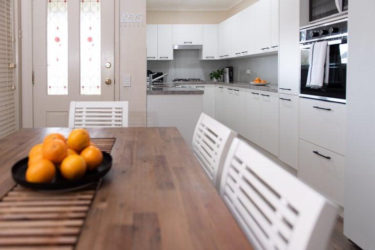 small narrow style kitchen