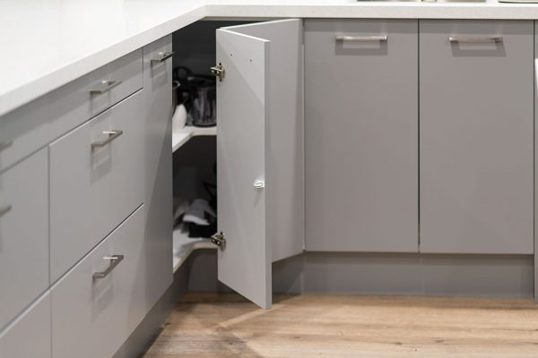 Corner cabinet unit in grey