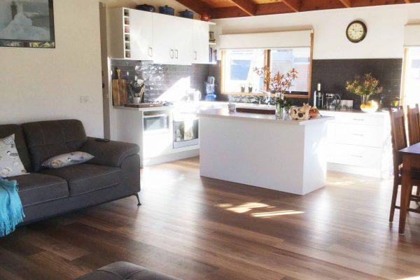 Open plan modern kitchen renovation